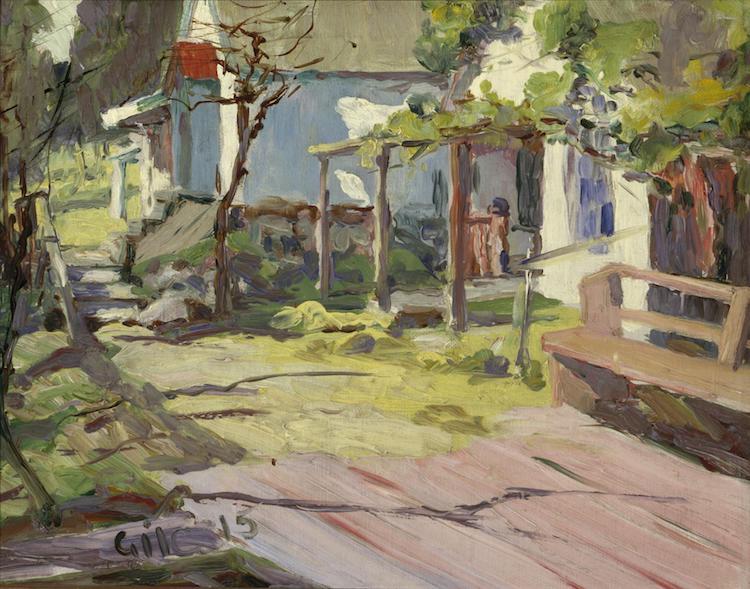"""Selden Connor Gile, """"Joaquin Miller's House,"""" 1915"""