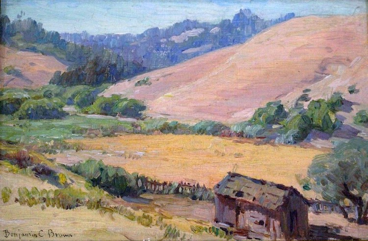 """Benjamin Chambers Brown, """"Brown Hills on the Russian River,"""" 1915"""