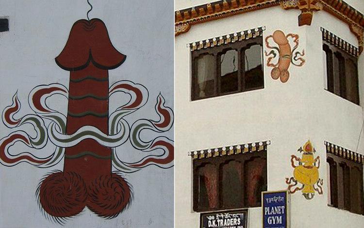 Falli dipinti in Buthan
