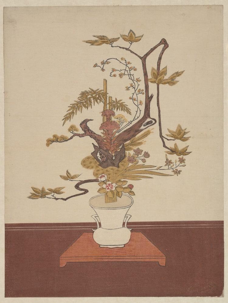 """Ike Bana in stile Ike-no-bo"", di Suzuki Harunobu, ca. 1765"