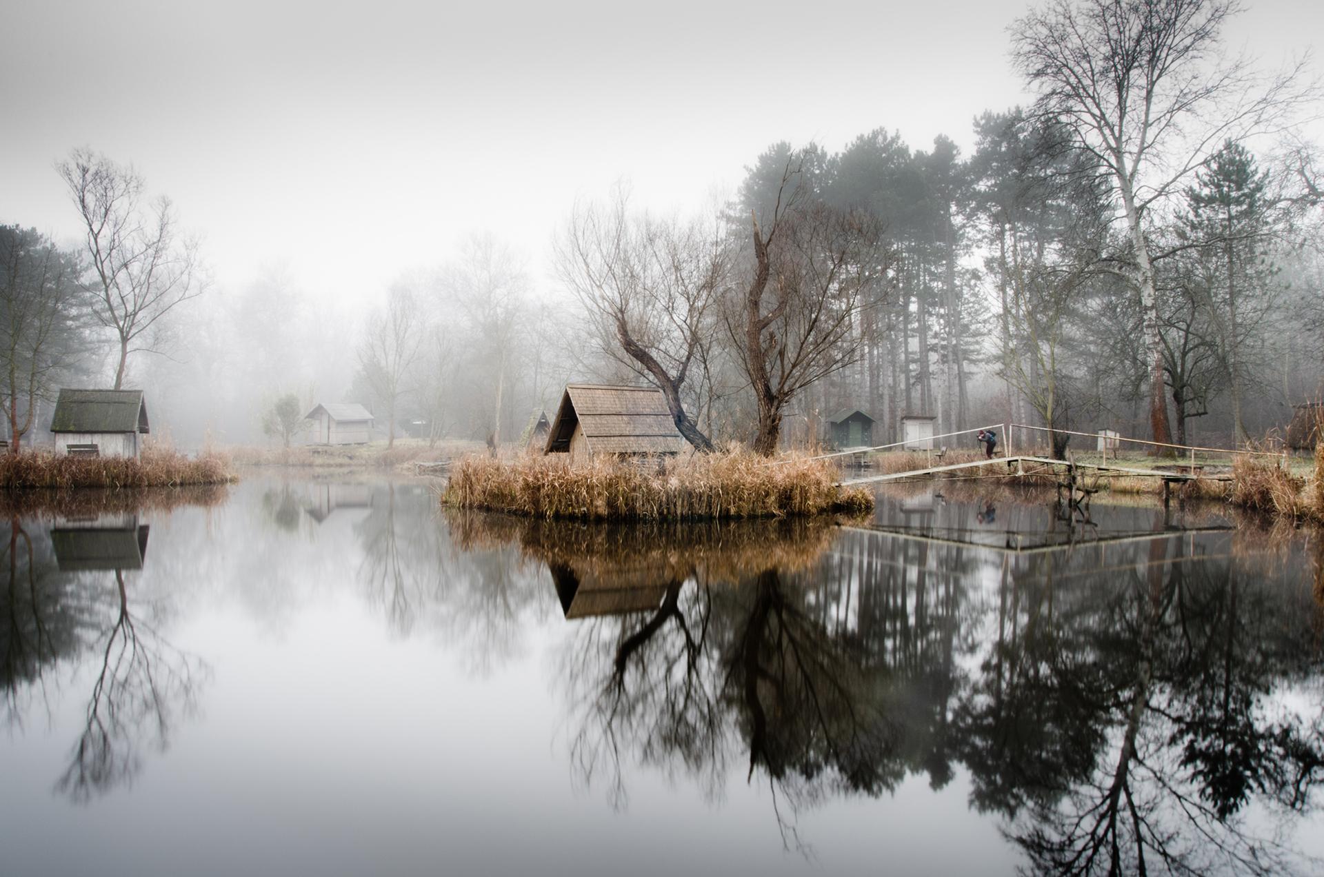 Szodliget villaggio di pescatori vicino a budapest