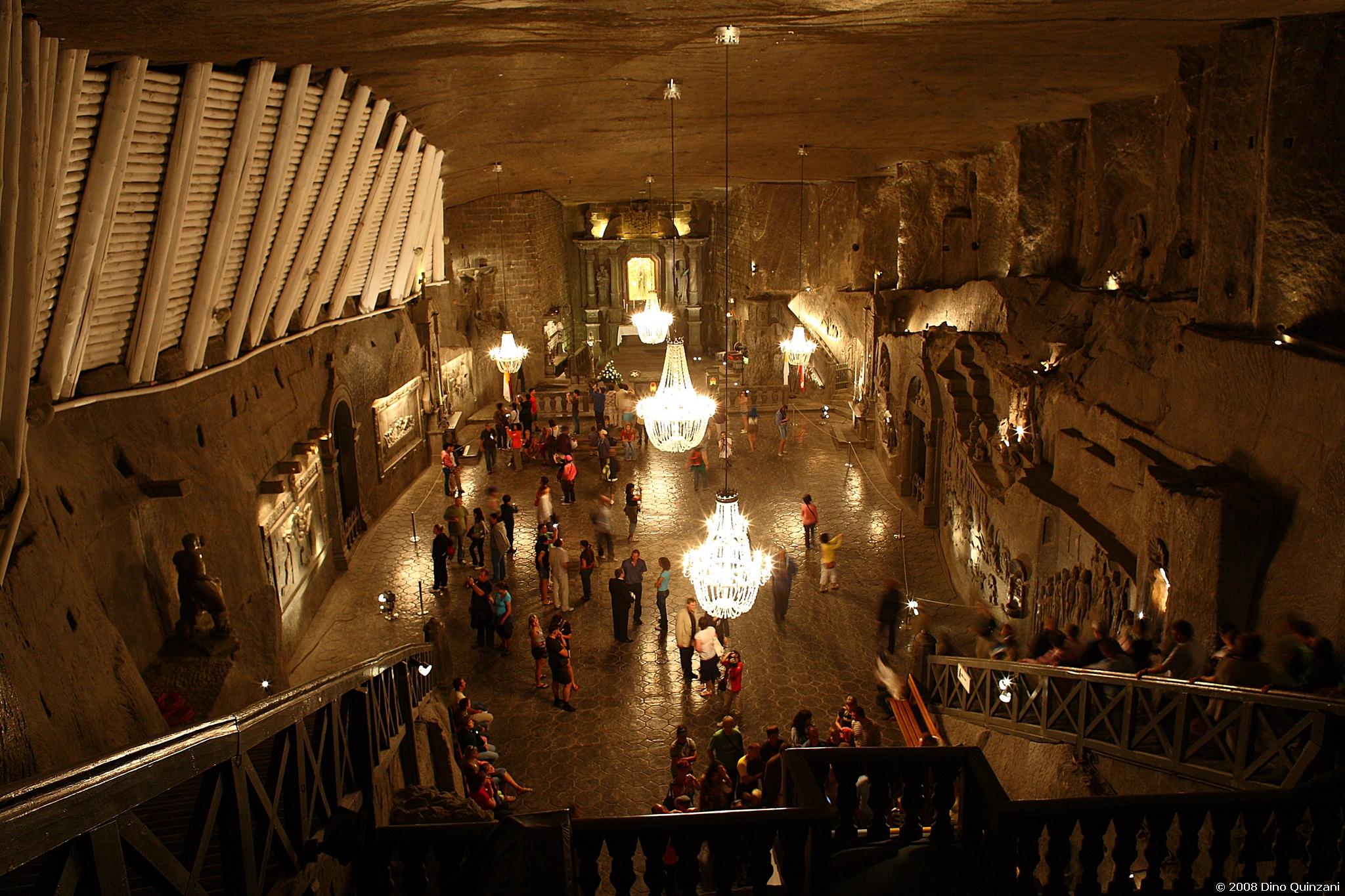 Cattedrale nelle miniere di sale di Wieliczka