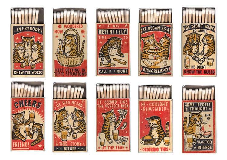 Le scatole di fiammiferi della linea Strike Your Fancy