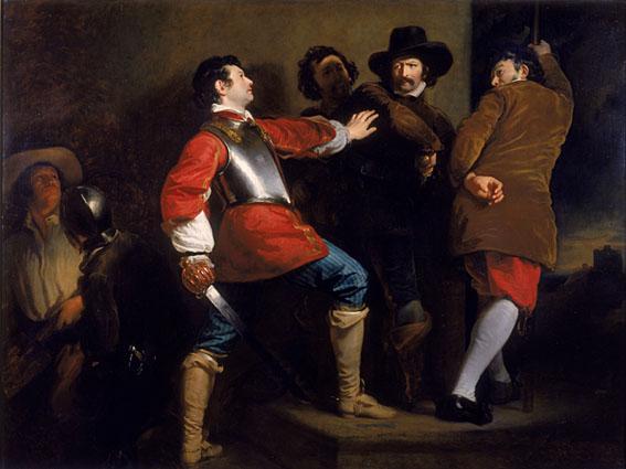 Guy Fawkes colto sul fatto, dipinto da Henry Perronet Briggs