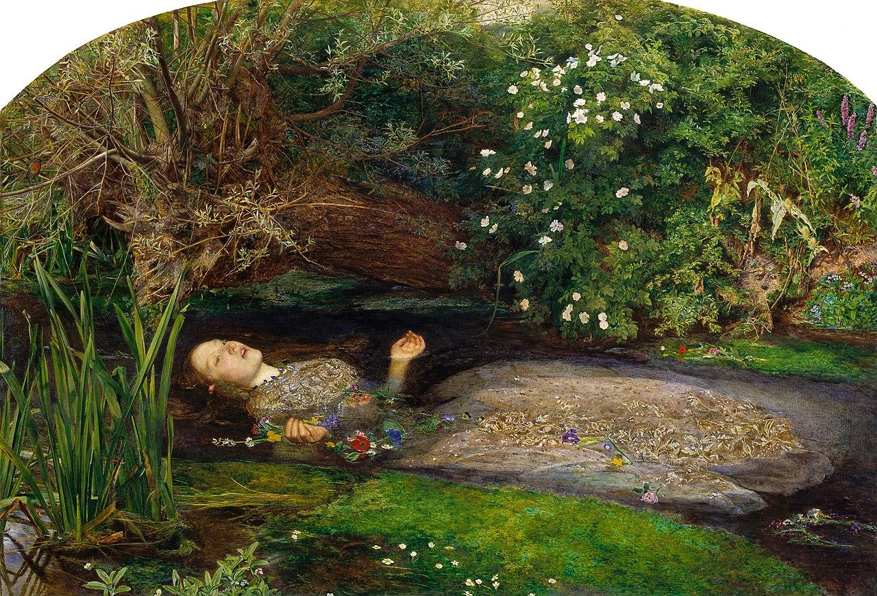 Ofelia, John Everett Millais (1851-2)