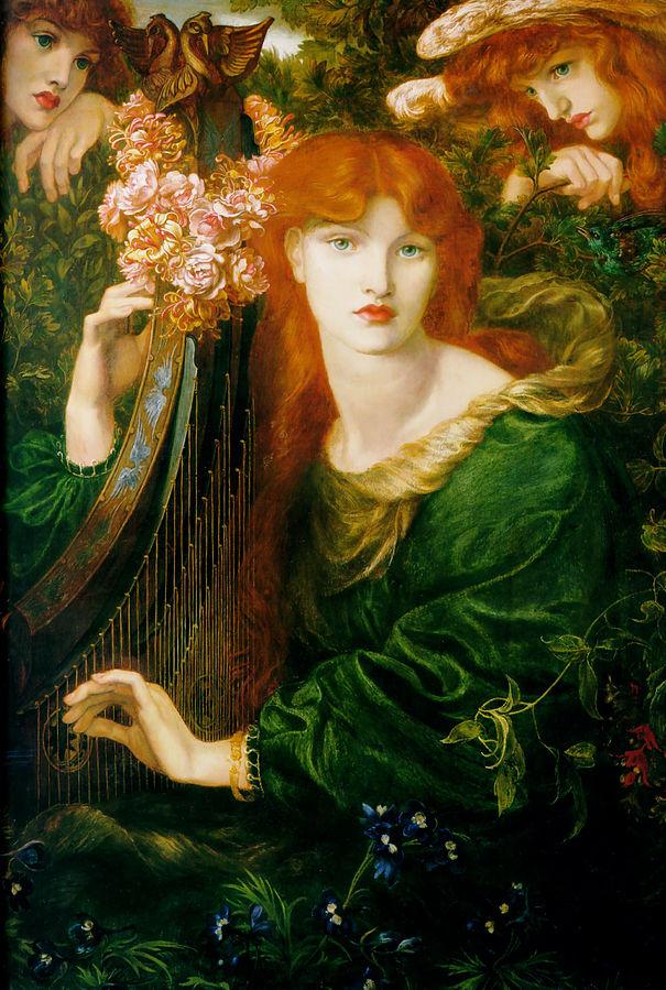 Dante Gabriel Rossetti, La Ghirlandata (1873)