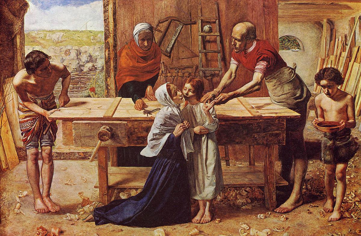 Cristo nella casa dei genitori,  John Everett Millais (1850)