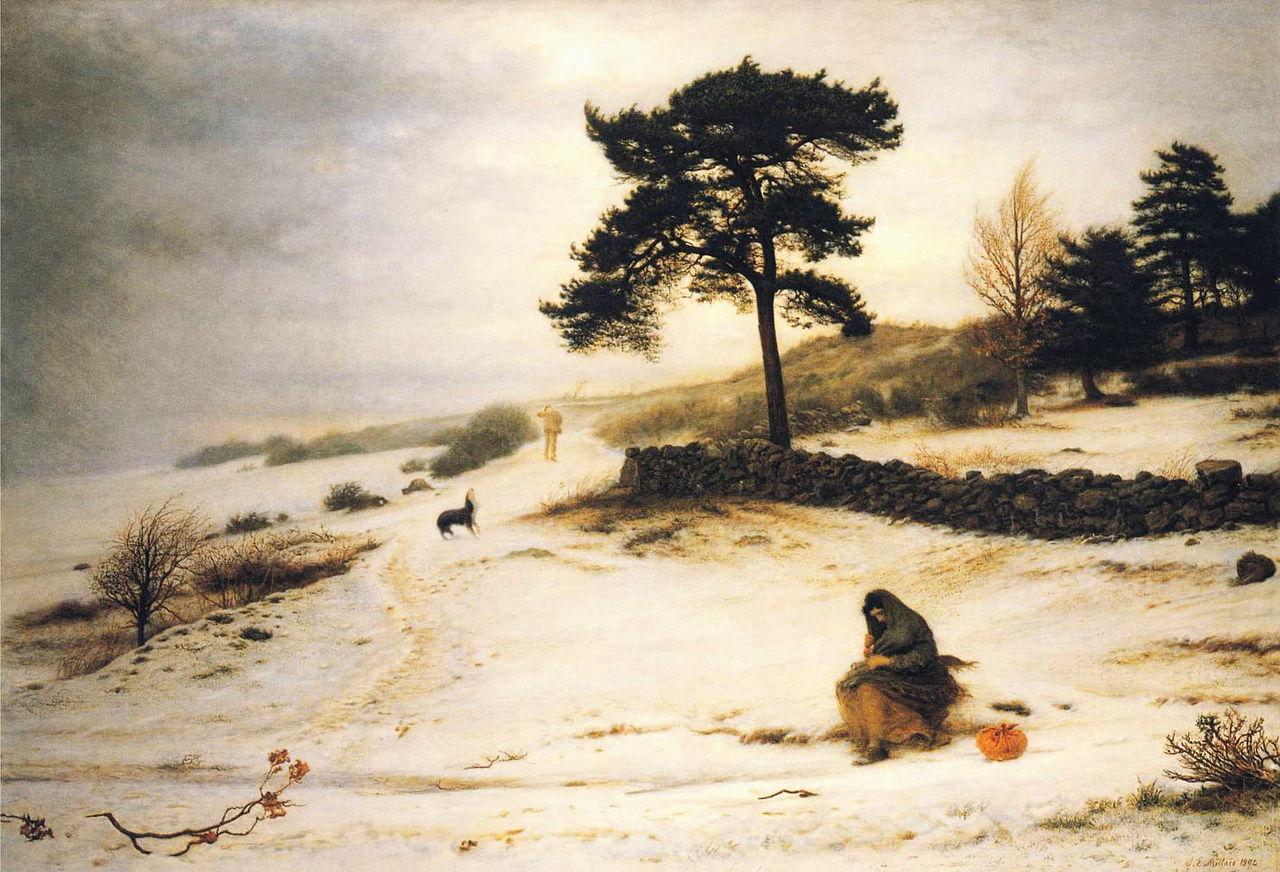 Blow, Blow Thou Winter Wind, John Everett Millais