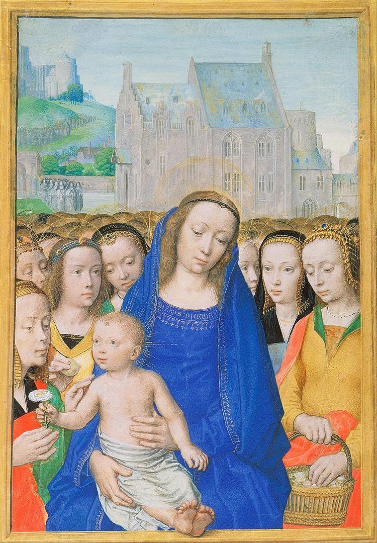 Vergine Maria in Vergine con Bambino e Sante di Gérard David