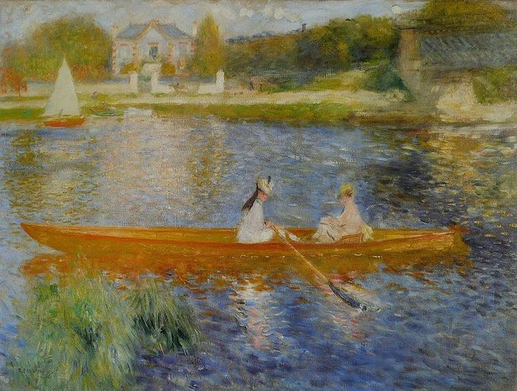 La Yole, Pierre-Auguste Renoir, 1875 (Wikimedia // PD)