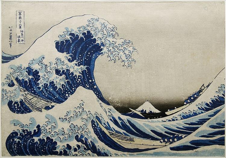 La grande onda di Kanagawa, Katsushika Hokusai, 1831