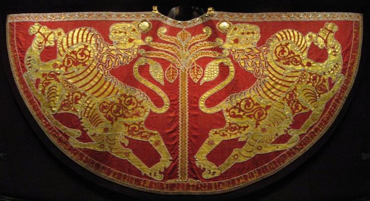 Mantello d'incoronazione a Palermo di Ruggero II d'Altavilla come re di Sicilia (1133)