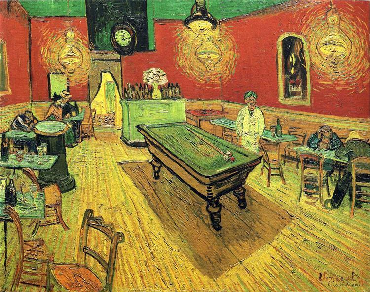 """""""Il caffè di notte"""", Vincent van Gogh, 1888."""