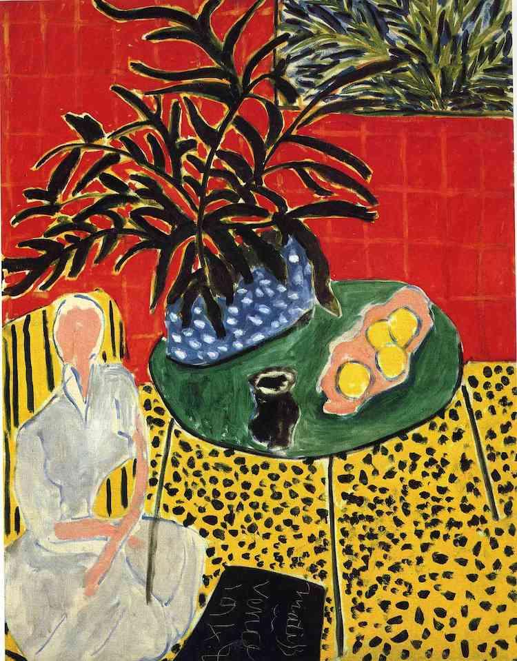 """""""Interior with Black Fern,"""" Matisse, 1948."""