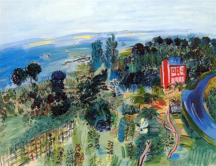 """Raoul Dufy, """"Villerville,"""" 1935"""
