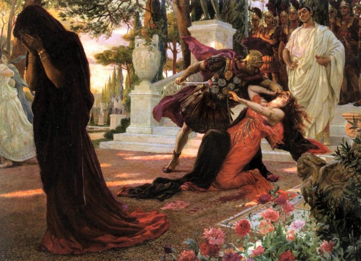 La morte di Messalina,  Georges Antoine Rochegrosse, 1916