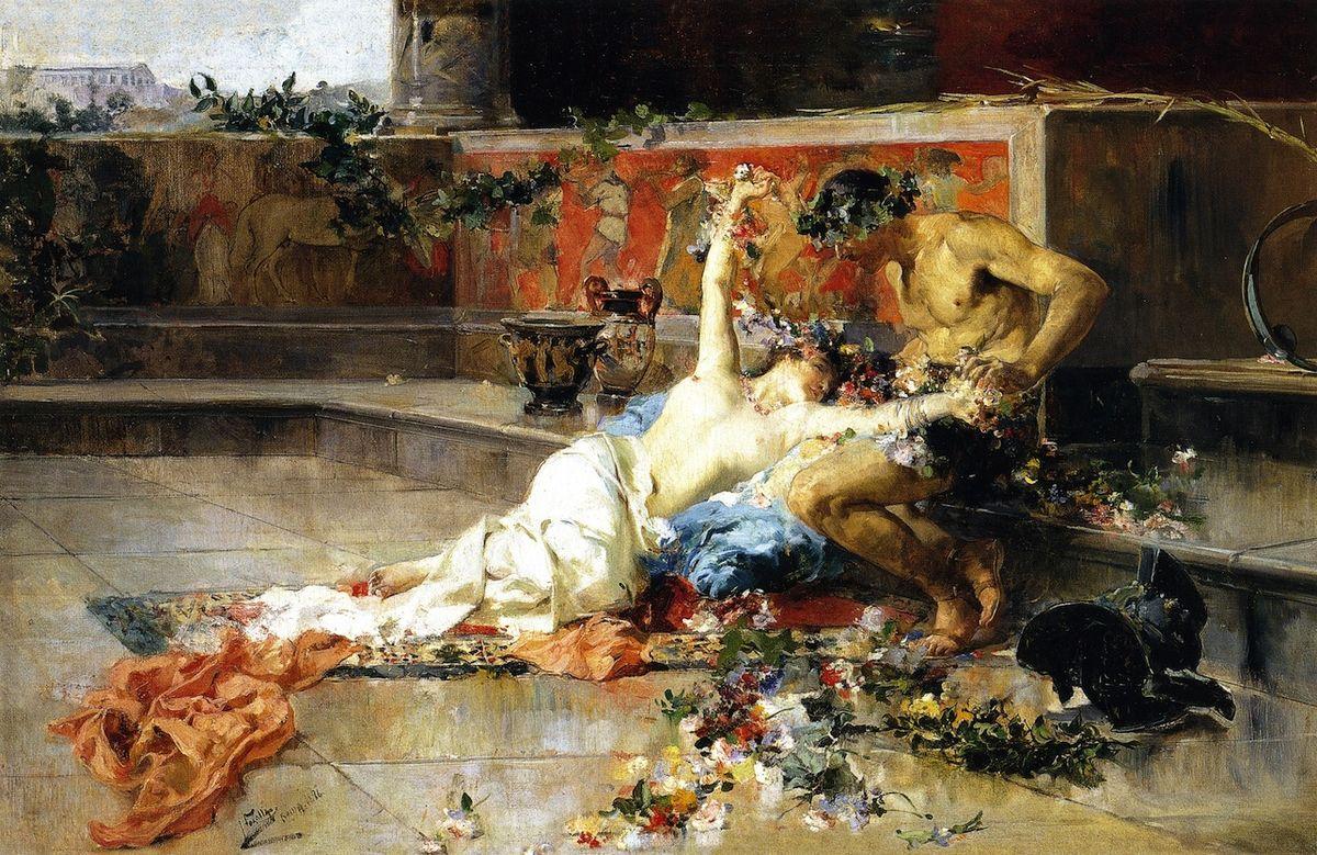 Messalina tra le braccia del Gladiatore, Joaquín Sorolla (1886)
