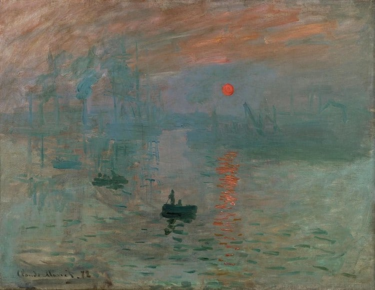 Claude Monet: Impression, Levar del Sole (1872)