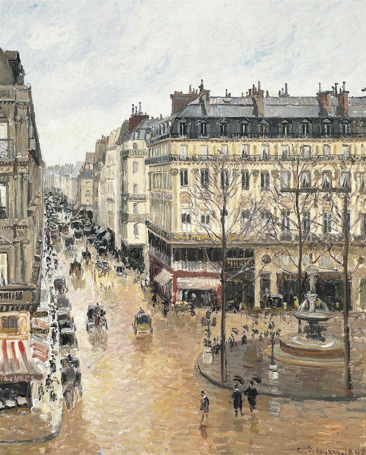 Camille Pissarro, Rue Saint-Honoré nel pomeriggio. Effetto della pioggia (1897)