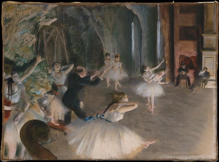 Edgar Degas, Prove di balletto in scena (1874)
