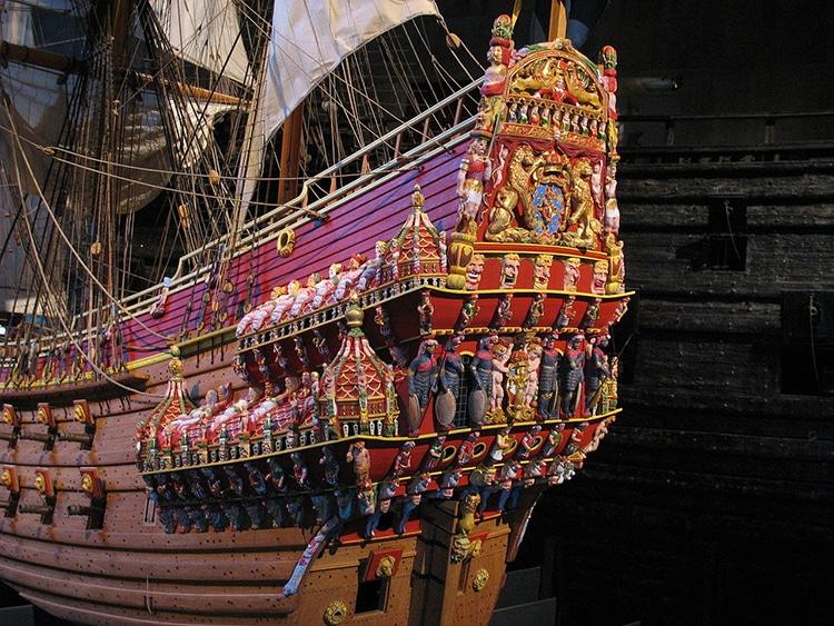 Un modellino del Vasa in scala 1:10