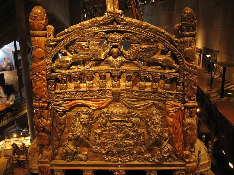 Lo specchio di poppa del Vasa
