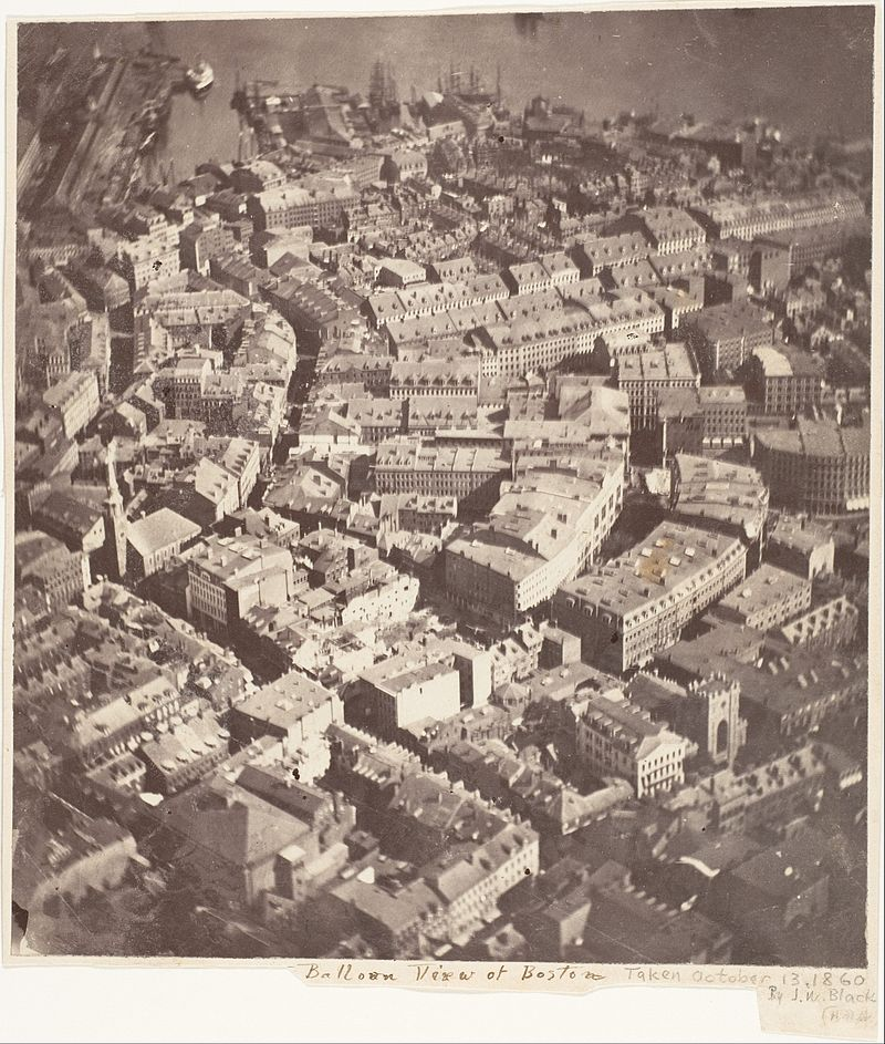 La prima foto aerea