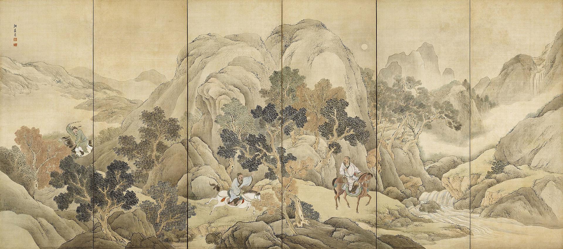 Xiao He insegue Han Xin di Yosa Buson